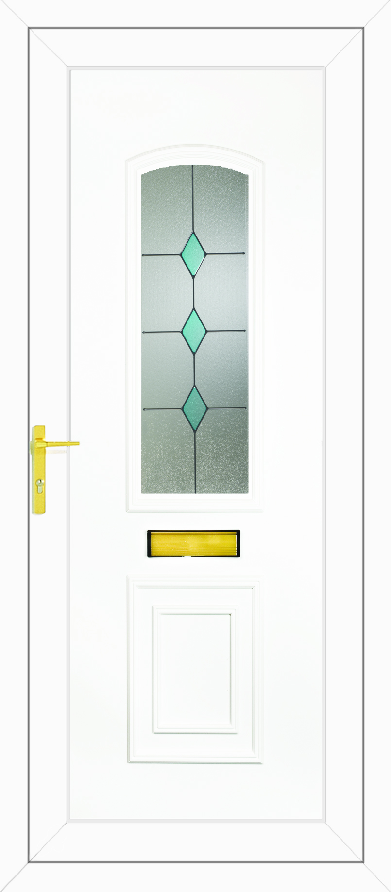 R400 blue diamonds upvc front door for Upvc glass front doors