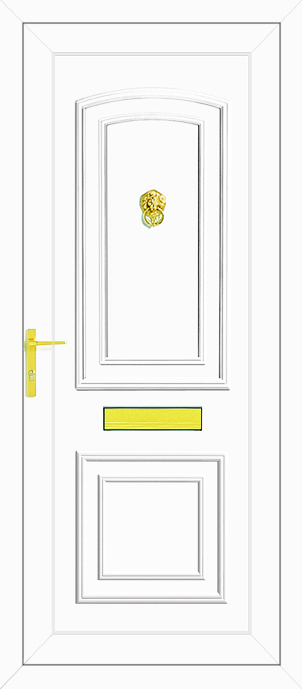 Reagan solid upvc back door for Ready made upvc doors