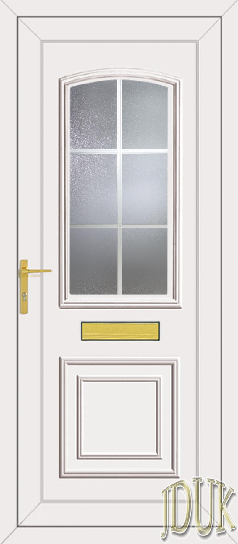 Roosevelt one georgian bar upvc front door for Upvc glass front doors