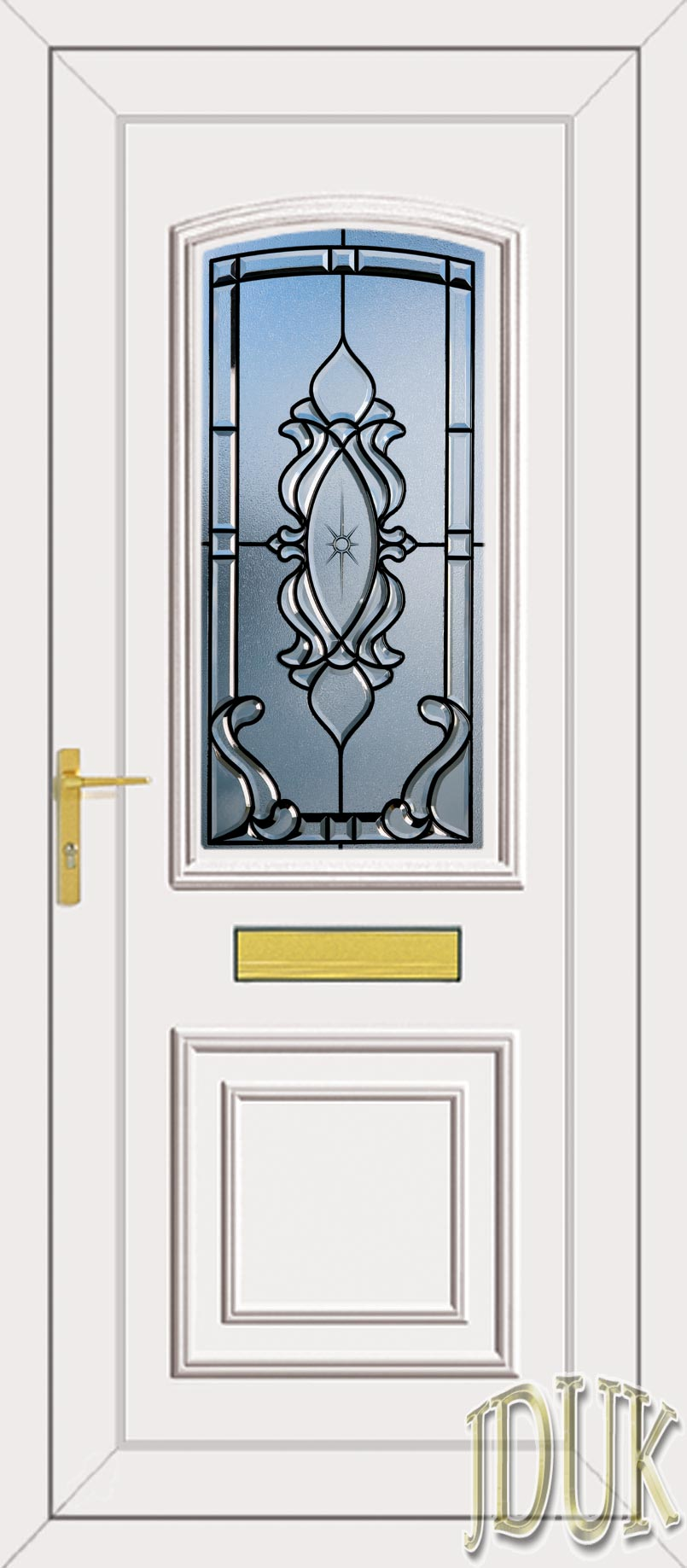 Roosevelt one hamley coloured bevel upvc front door for Coloured upvc doors