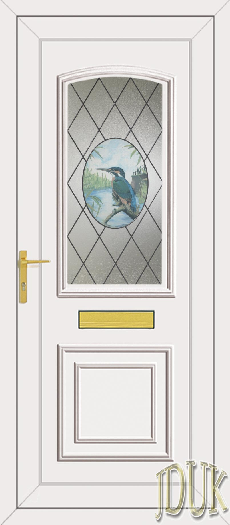 Roosevelt One Kingfisher Upvc Front Door
