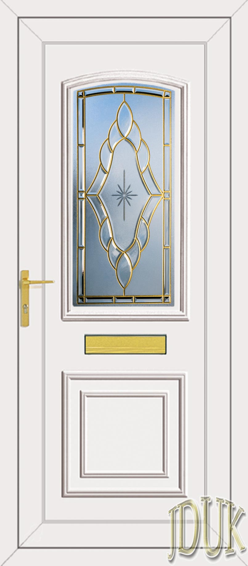 Roosevelt one sentiment coloured bevel upvc front door for Coloured upvc doors