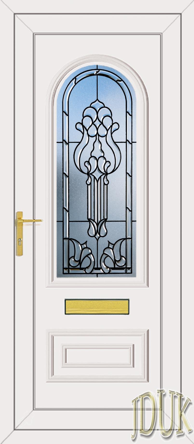 Truman one tiffany coloured bevel upvc front door for Coloured upvc front doors