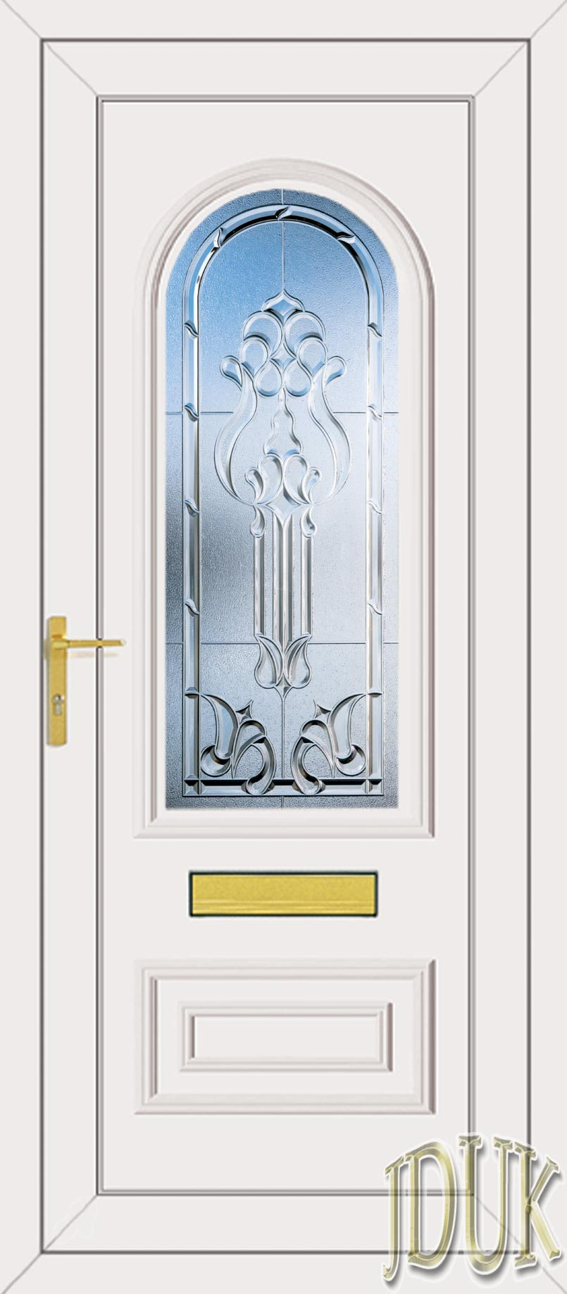 Truman One Tiffany (Clear Bevel) UPVC Front Door | 805 x 1837 · 128 kB · jpeg