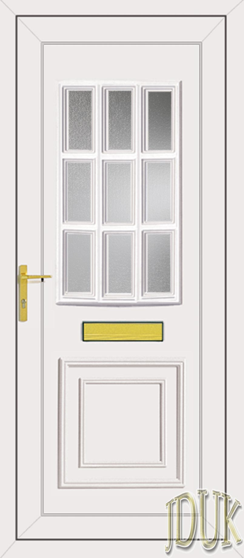 Tyler glazed upvc front door for Upvc glass front doors