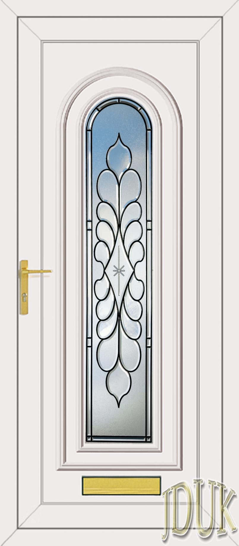 washington one legend coloured bevel upvc front door