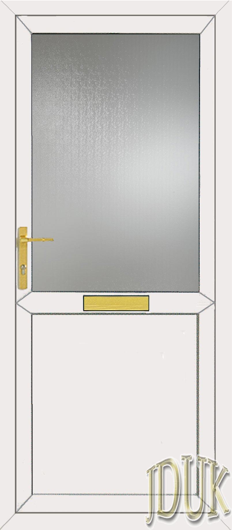 Half Glazed Flat Panel UPVC Front