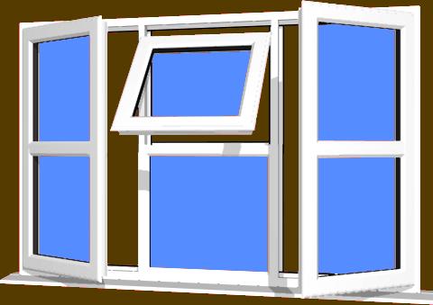 sc 1 st  Just Doors UK & White UPVC Window Style 122