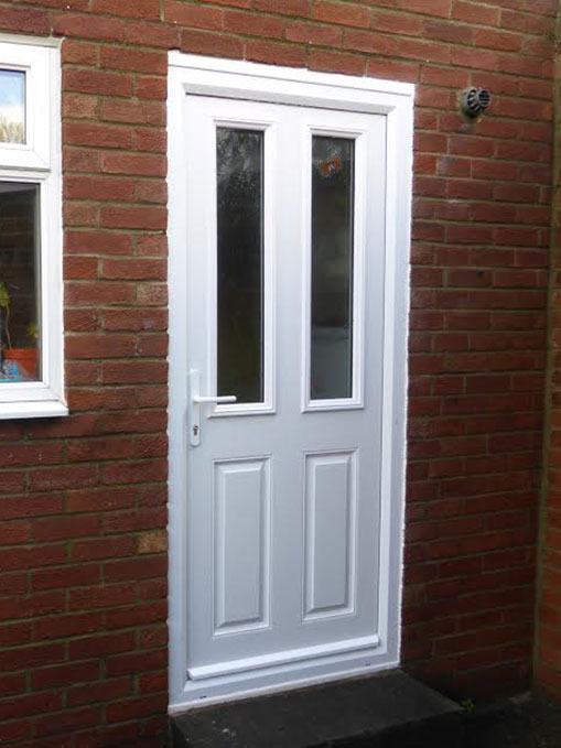 blue composite front door
