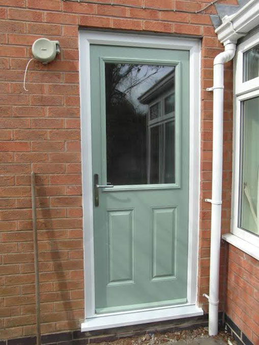 composite front door in grey