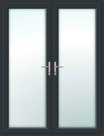 Grey UPVC French Doors