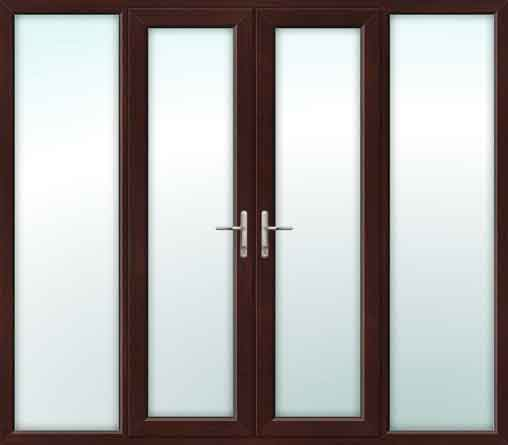 Rosewood UPVC French Doors with Side Panels