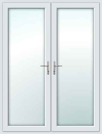 Upvc front doors for White double french doors