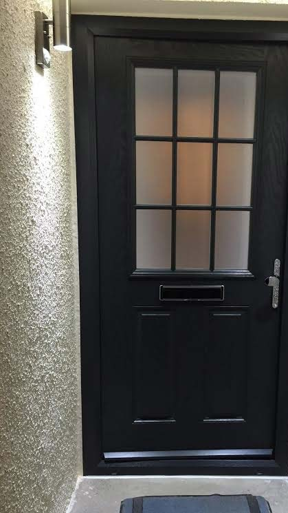 2 Panel 1 Grill in Grey Composite Door