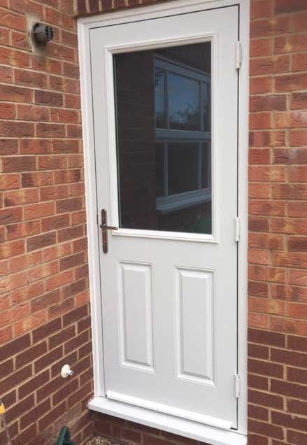 half glazed composite back door