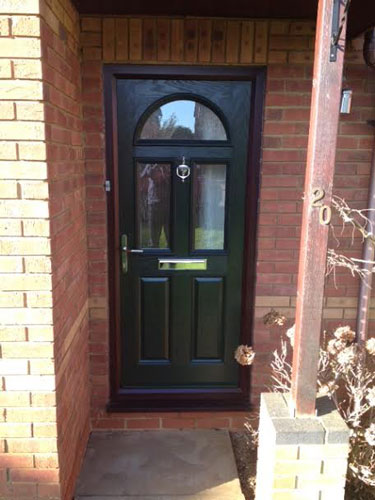 2 Panel 2 Square 1 Arch in Grey Composite Door