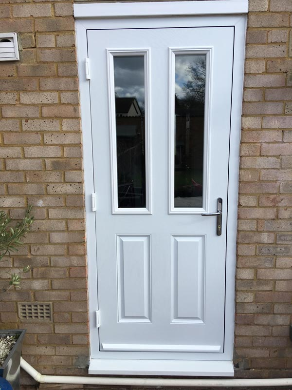 composite back door in white