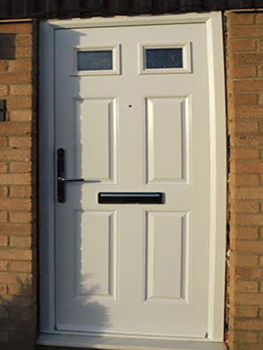 4 Panel 2 Square in White Composite Door