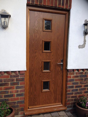 4 Square in Oak Composite Door