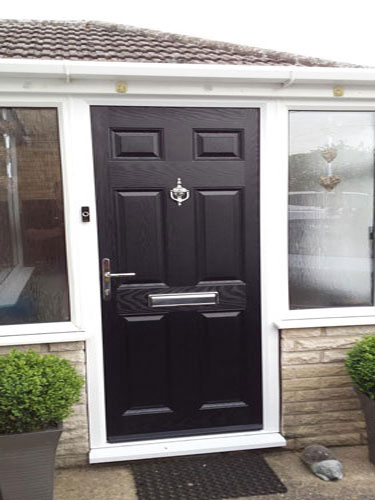 6 Panel Solid in Black Composite Door