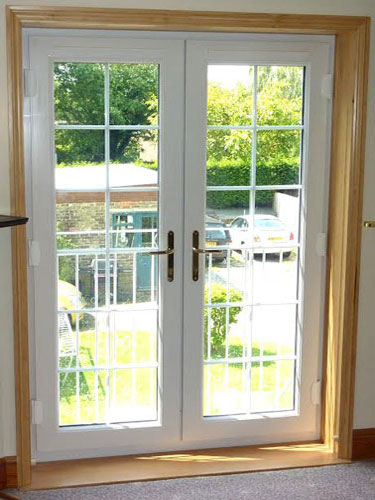 White French Doors with Georgian Bars