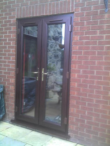Rosewood French Doors With Side Opening Windows