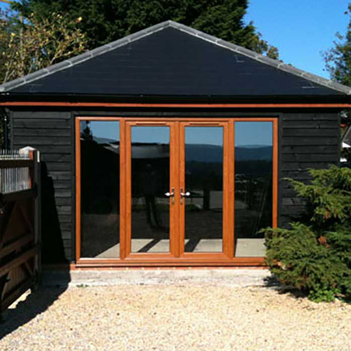 Oak french doors with side panels and top light for French windows with side panels