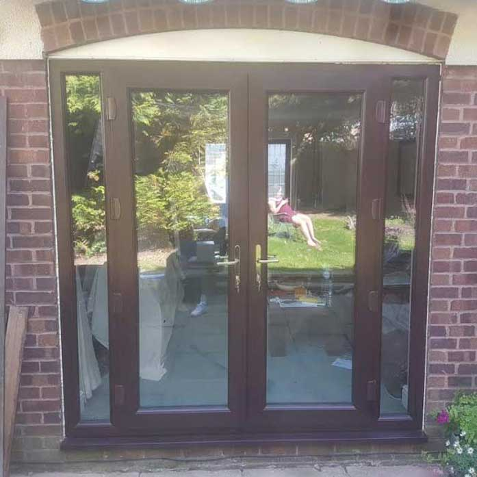 Rosewood French Doors with Side Panels