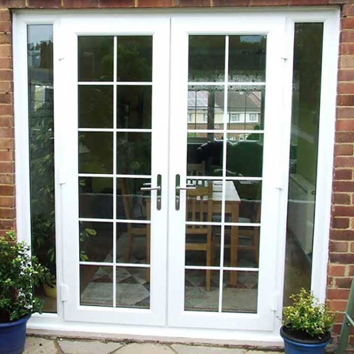 White French Doors with Side Panels Georgian Bar