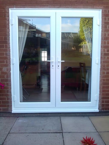 White french doors and top light for White french doors