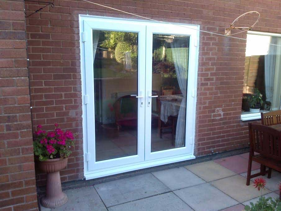White french doors - How wide are exterior french doors ...