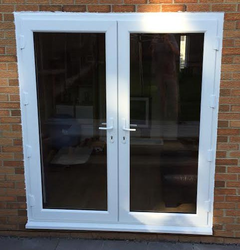 Cheap upvc patio doors cheap upvc bi fold patio doors for Upvc french doors with cat flap