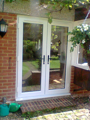 White french doors with side panels for Upvc french doors made to measure