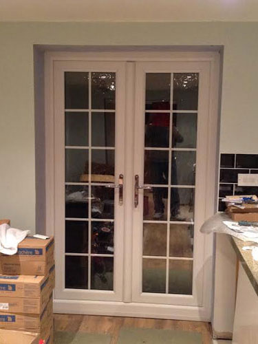Toughened double glazed 28mm pilkington k low e energy for White double french doors