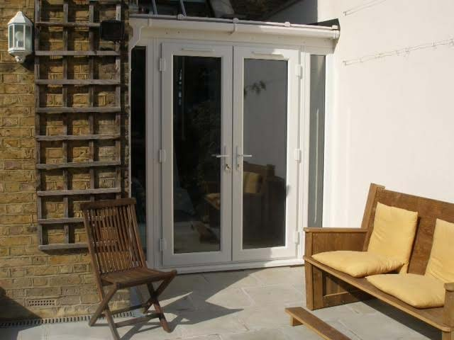 White French Doors & Side Panels