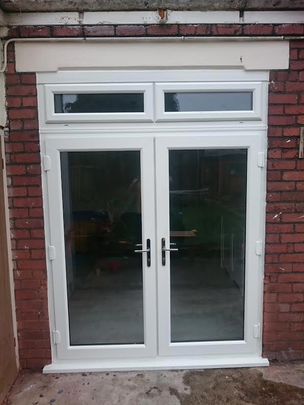 White French Doors & Top Light