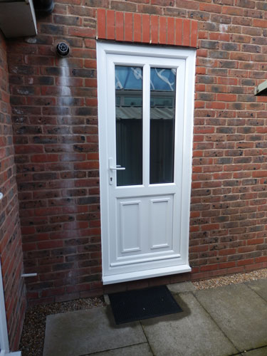 clinton half panel dual glazed upvc back door