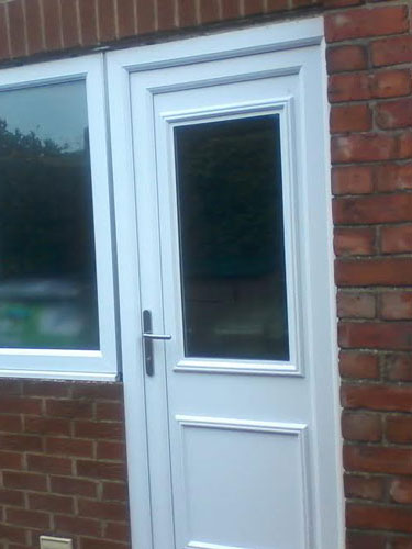 Chester One Glazed UPVC Back Door