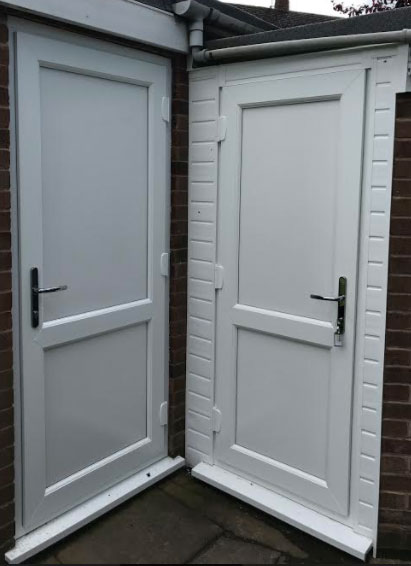 Flat Panel with Mid Rail UPVC Back Door