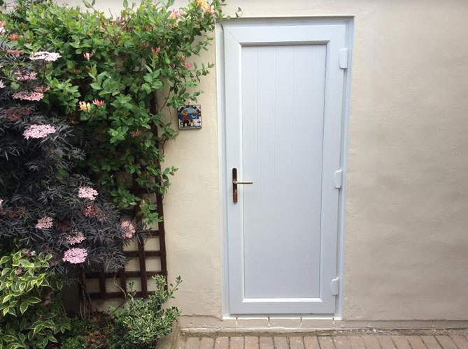 Groove Full Panel UPVC Back Door