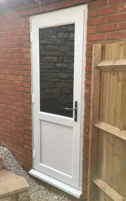 Half Glazed UPVC Back Door
