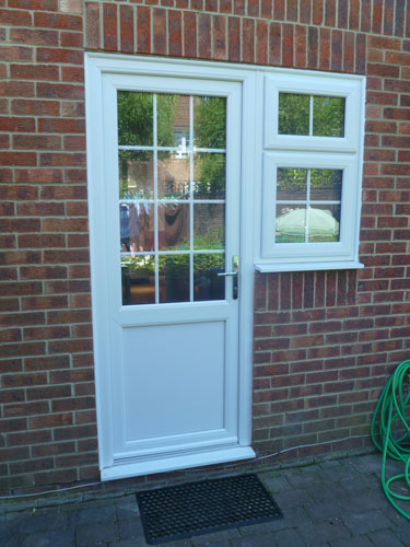 half glazed geogian bar upvc back door