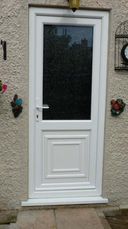 Reagan Half Panel UPVC Back Door