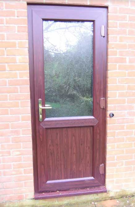 Brown Upvc Back Door . & 2xg Glazed Doors u0026 Brown Upvc Back Door .