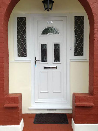 Carter Three Diamond Lead UPVC Door