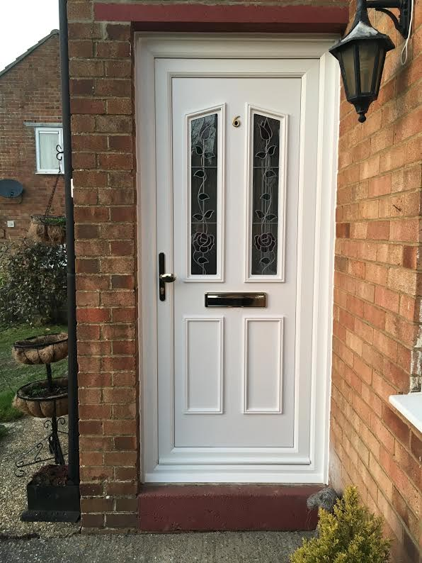 Clinton Two Classic Climbing Rose UPVC Door
