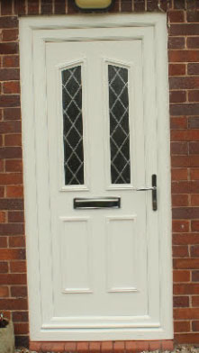Clinton Two Diamond Lead UPVC Door