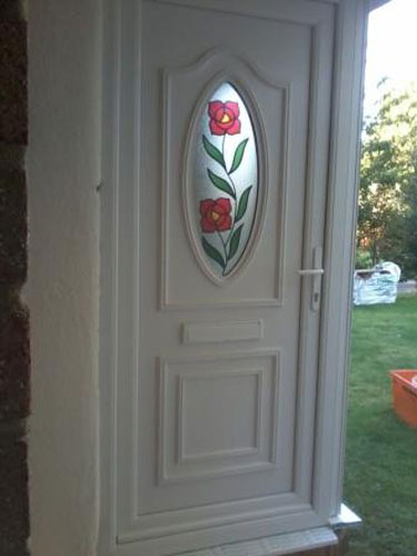 Jefferson One Climbing Rose UPVC Door