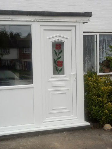 Taft One Climbing Rose UPVC Door