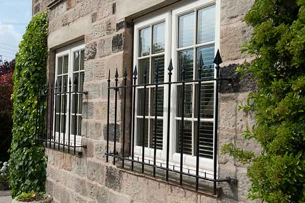 upvc window with external astragal bars